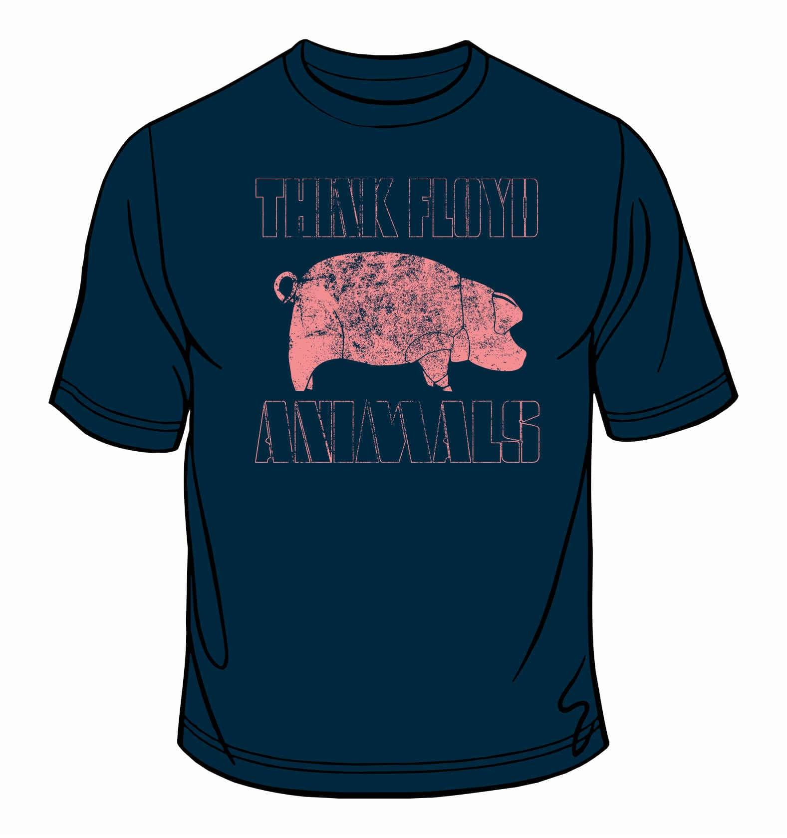 ANIMALS T-Shirt Navy Blue